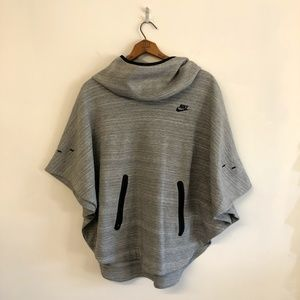 Nike Tech Fleece Poncho Cape Hooded Sweatshirt